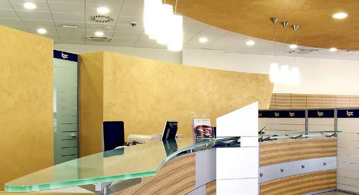 Lampade per illuminazione uffici banca