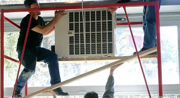 Impianti di climatizzazione, montaggio condizionatore