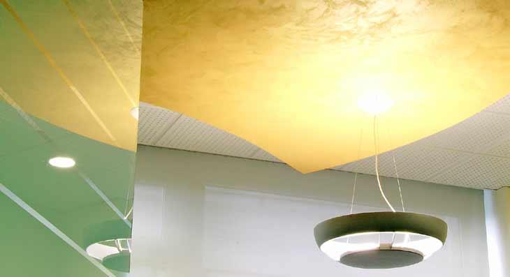 Controsoffitto Banca studio di progettazione uffici Arezzo